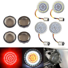 Bullet 1157 LED Front&Rear Red Turn Signals Lights Cover for Harley Motorcycle