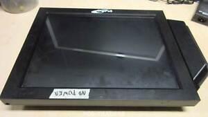 DigiPoS MULTIPLEX 15` TFT Touch LCD Monitor POWERED USB 12V - DVI VGA NO POWER