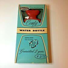 Vintage Davol Comfy Hot Water Bottle 2qt Red #10 with Original Box