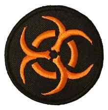 Bio Hazard Orange Symbol Embroidered Sew or Iron on Patch (A)