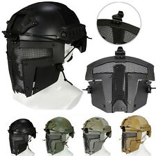Tactical Airsoft Mask SPT Sparta Metal Mesh Paintball Full Face Helmet Cover
