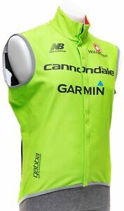 Castelli Cannondale Garmin Pro Cycling Gabba Wind Vest Men 2XL Road Bike GORE