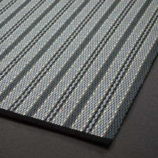 Stripes and Diamods flat weave wool rug. Edged in black cotton