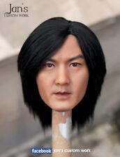 1/6 CUSTOM REHAIR REPAINT Ekin Cheng 鄭伊健 hot toys figure head sculpt DX enterbay