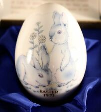 1971 Noritake Bone China Japan. Easter Egg ~Rabbits~With Box