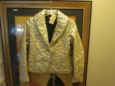 MICHAEL KORS SIZE 8 WOMEN'S GOLD JACKET NEW MSRP. $300.00