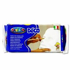 Carioca Deco Art Craft Modelling Air Hardening Clay Dough - White 500g
