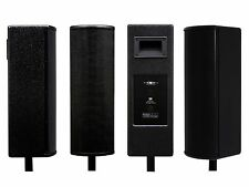Galaxy Audio LA4B 4-4.5 inch 16 Ohm Line Array Speakers/Pole Mount/125W/Black