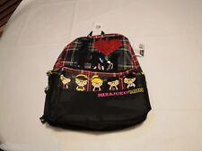 Harajuku mini I love heart HM bookbag backpack glitter nerds rule Gwen Stefani