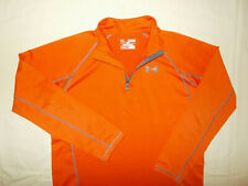 UNDER ARMOUR COLD GEAR 1/4 ZIP LONG SLEEVE ORANGE LOOSE FIT SHIRT BOYS XL EXCELL