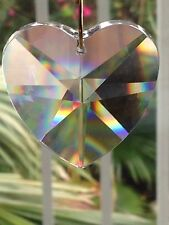 """40mm Swarovski Crystal Heart Prism Double Sided for Tons of Rainbows 1 1/2"""""""