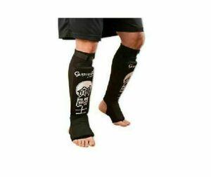 Gladiator Ultra Combination Cloth Shin/Instep Guard - Black Martial Arts Tkd