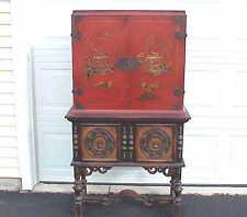 VERY Vintage Life Time Furniture Co Grand Rapids MI Oriental Cupboard / Cabinet