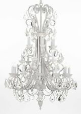Wrought Iron Crystal Chandelier Lighting 24 Lights Country French, ht50 X wd30