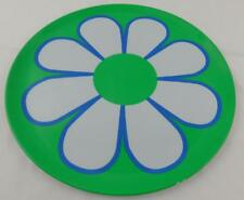 Celebrate It Summer Outdoor Platter Plate New Green Blue Floral Plastic