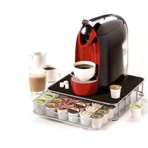 cassetto per 36 cialde per capsule Nespresso /& Dolce Gusto Supporto per macchina da caff/è con cassetto porta cialde
