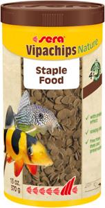 Sera 370g Vipachips Nature Tropical Crisps Fish Food 1L Ornamental Aquarium Tank