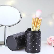 Protable Leather Makeup Brush Storage Case Empty Travel Holder Organizer
