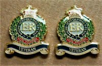 2 x MILITARY ENAMEL PIN BADGE ROYAL ENGINEERS VETERAN ARMY REMEMBRANCE BADGE