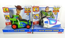 Toy Story 4 Pop-Up RC Racer & Spaceship Cruiser Remote Control Car Set New