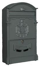 Mailbox Model Regia Mail Aluminum Grey Postman Letterbox