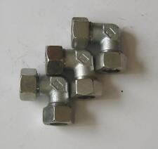 3 Stück - Winkel Verschraubung, Hydraulikverschraubung W 22 L,  --RESTPOSTEN--