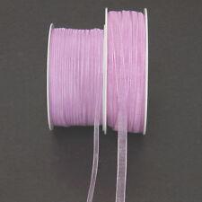 Unifarbene Bastel-Bänder aus Organza