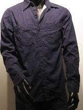 REPLAY Camisa de trabajo forrado talla M azul EE.UU. Los Angeles NUEVO um200