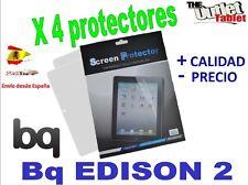 Pack 4 Protectores de pantalla para bq Edison 2 ,  Edison 2 3G Fnac 10 Blister