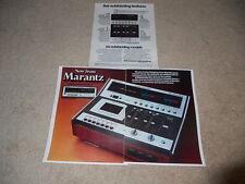Marantz 5420 Cassette Ad, 3 pg, Articles, Beautiful! 1975 Ad