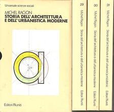 MICHEL RAGON - STORIA DELL'ARCHITETTURA E DELL'URBANISTICA MODERNE - 3 volumi