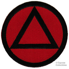 ALCOHOLICS ANONYMOUS iron-on EMBROIDERED PATCH AA RED BLACK applique SOBRIETY