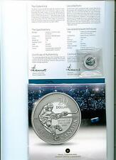 2013 CANADA $20 .9999 PURE SILVER HOCKEY COIN CAPSULE & CARD MINT