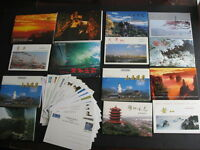 PRC CHINA PEOPLES REPUBLIC 14 sets of 10 +22  pre-stamped postcards 1986-98 era