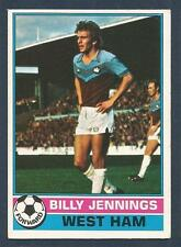 TOPPS 1977 FOOTBALLERS #176-WEST HAM UNITED-WATFORD-BILLY JENNINGS
