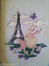 PARIS-PINK POODLE  EMBROIDER SET 2 BATHROOM HAND TOWEL