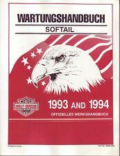 HARLEY Werkstatthandbuch Heritage Softail Classic 1993 - 1994 DEUTSCH 99482-94G
