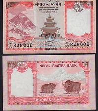 Nepal 5 RUPEES 2012 Nuovo di zecca Unc. PICK 69