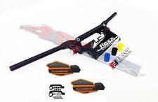 Fasst Flexx Flex 15 Handlebars Black Orange Powermadd Star Series Handguards ATV