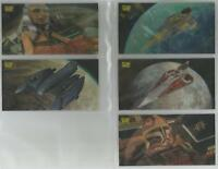 """Star Wars Clone Wars Widevision - """"Flix Pix Motion"""" Set of 5 Chase Cards #1-5"""