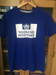 Mens Blue Weekend Offender T Shirt Size Medium New.