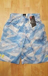 Under Armour Boys YMD L.Blue SC30 Essentials Printed Basketball Shorts NWT$34.99