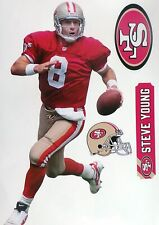 Steve young San Francisco 49ers Fathead Teammate Sticker Wall Decal 11x17
