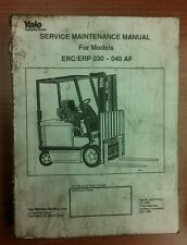 YALE Fork Lift Truck Maintenance Manual- ERC/ERP 030-040 AF