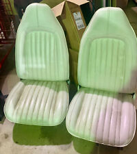 1970-74 Mopar E Body Front Bucket Seats, Pair, Complete Seats with Tracks - Nice