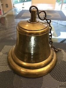 Very Historic Rare Marconi Brass Ships Bell WW2 Sunk by U-98 German Sub Maritime