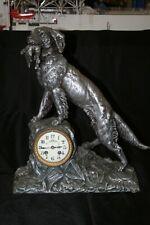 New ListingShelf Clock G. Omerth, signed Antique, metal sculpture #090 W/No Reserve