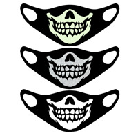 Skull Face Mask Halloween Protective Washable Reusable Glow in the Dark UK Scary