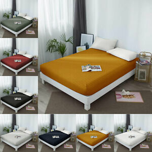 Top Quality Supple Soft Single Double Super King Bed Size Elastic Fitted Sheet