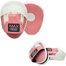 Womens Pink Focus Pad Hook and Jab Boxing Punch Training Pads Mitts Muay Thai